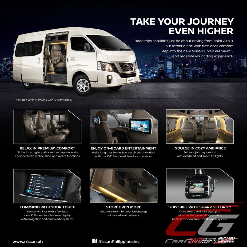 77baf64d4a Nissan dealers across the country are now accepting orders for the Urvan  Premium S.