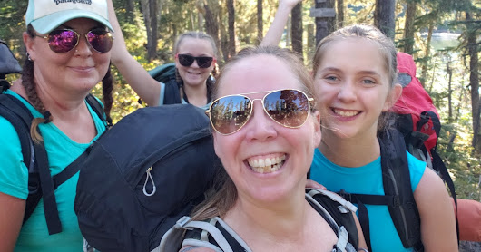 Backpacking with the girls