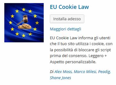 Come adeguarsi alla cookie law su WordPress