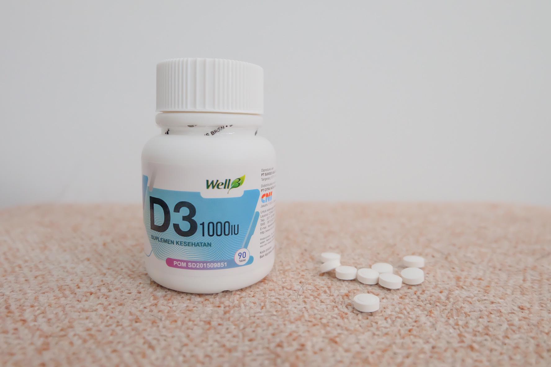 Well3 D3 1000IU & Well C-500 Extra Untuk Meningkatkan Imunitas
