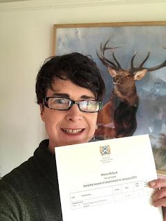 Rhona McGurk passes SQA Level 4 Bagpipes