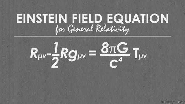 ما هي معادلة آينشتاين للجذب العام والتي هي من أكبر معادلات الكون وأكثرها شهرة ؟؟
