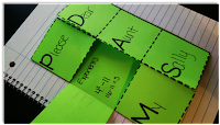 Vocabulary trifold organizer to help students learn key Guided Math terms