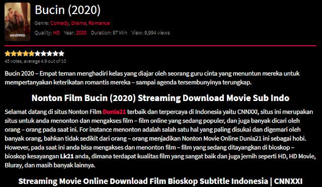 Nonton Film Bucin (2020) Lengkap Link Terbaru 2021