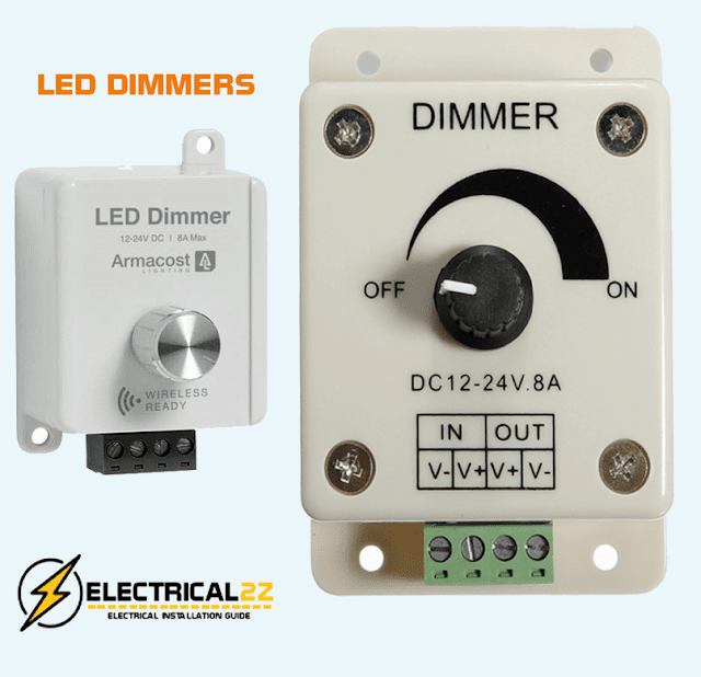 what is a dimmer, dimmers, types of dimmer, led controller, smart dimmers, lighting control @electrical2z