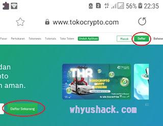 Cara Buat / Daftar Tokocrypto