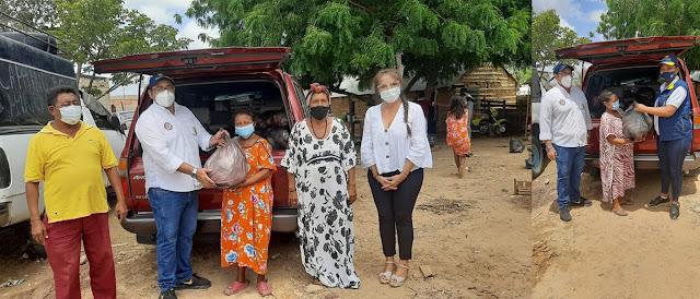 hoyennoticia.com, Comenzó entrega de ayudas a afectados por lluvias en Maicao