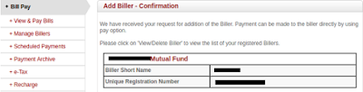 How to Add Mutual Fund as a Biller for SIP through Internet Banking?