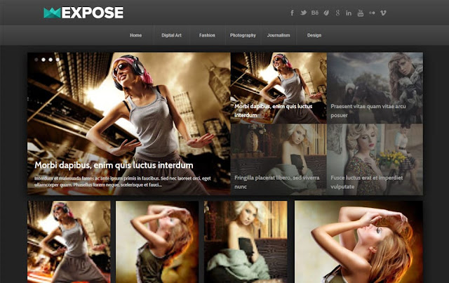 Expose Responsive Blogger Template