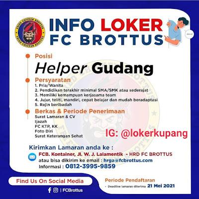 Lowongan Kerja FC Brottus Sebagai Helper Gudang