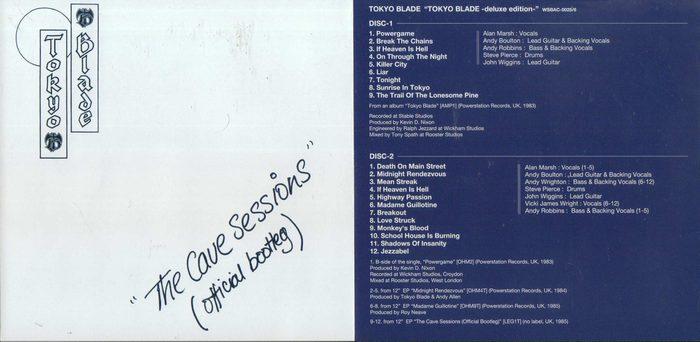 TOKYO BLADE - Tokyo Blade [Deluxe Edition Japan mini-LP remastered] (2016) sleeve