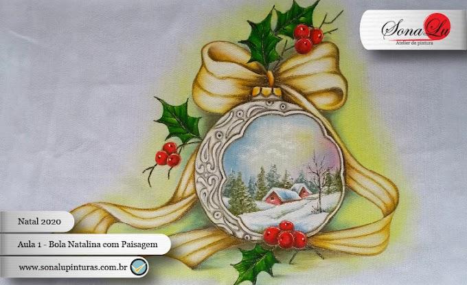Natal 2020 - Aula 1 - Bola Natalina com Paisagem