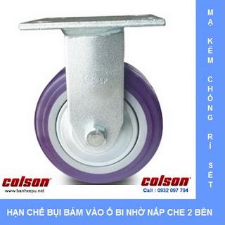 Bánh xe đẩy hàng nhựa PU 200 chịu lực 370kg | S4-8208-925P www.banhxepu.net
