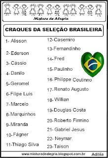Seleção brasileira copa mundial de 2018