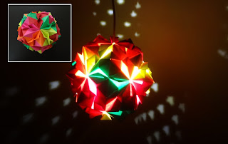 Paper Crafts Beautiful Multicoloured Origami Lantern