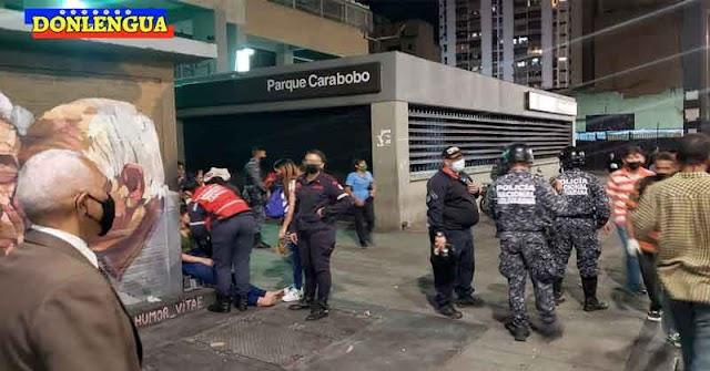 Se descarrilo el Metro de Caracas en Parque Carabobo y provocó una explosión