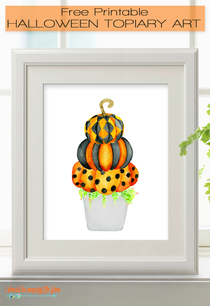 Free Printable Halloween Topiary | This fun and whimsical free fall printable is perfect for your Halloween decor.