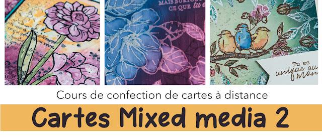 Cours en ligne carte mixed media 2 avec les produits Stampin' Up!