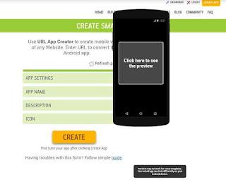 Tap create app