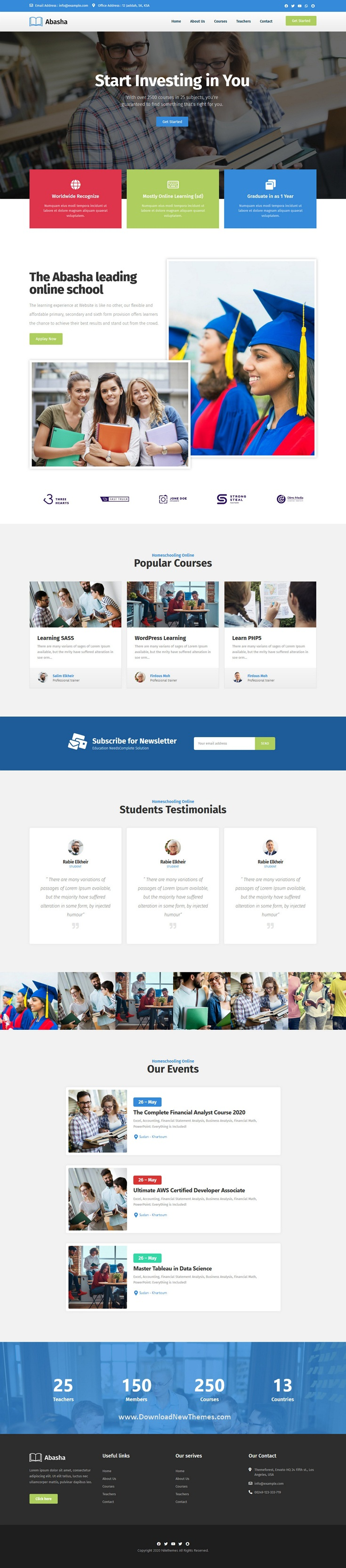 Education & Learning Courses Elementor Template Kit