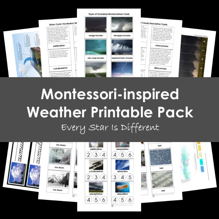 Montessori-inspired Weather Printable Pack