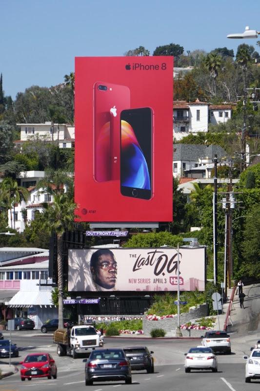 Apple iPhone 8 red billboard