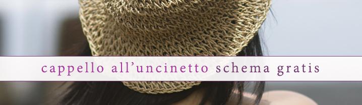 Relasé Cappello Estivo Alluncinetto Schema Gratis
