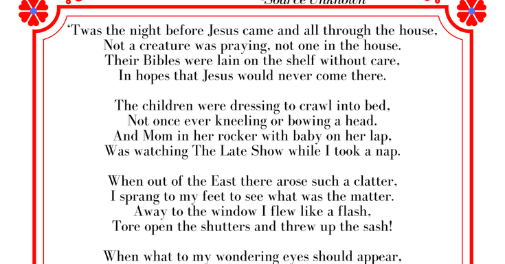 photo relating to Twas the Night Before Jesus Came Printable named Twas the Evening Prior to Jesus Arrived Cost-free Printable