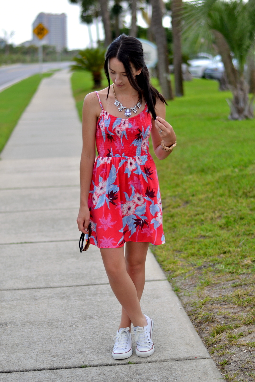 Bright Summer Floral Dress