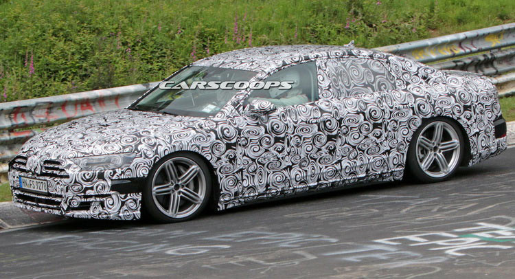 2018 Audi A8 Nailed – In More Ways Than One