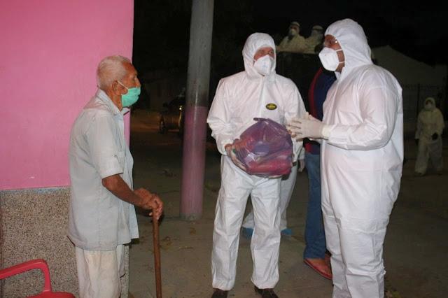 Alcaldía de Riohacha entregó alimentos y tapabocas