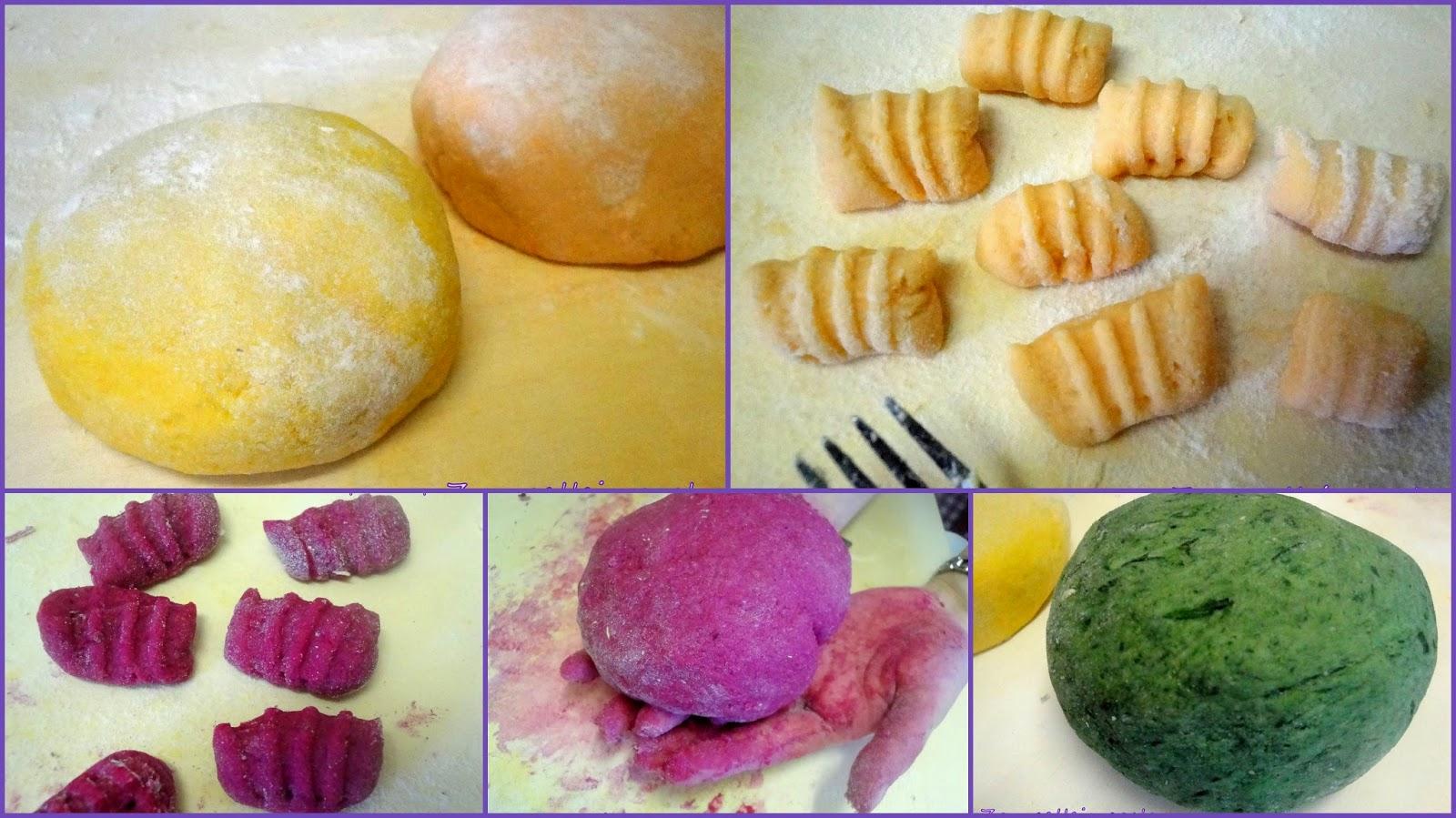 Gnocchi colorati alle verdure- Ricetta salata di Carnevale