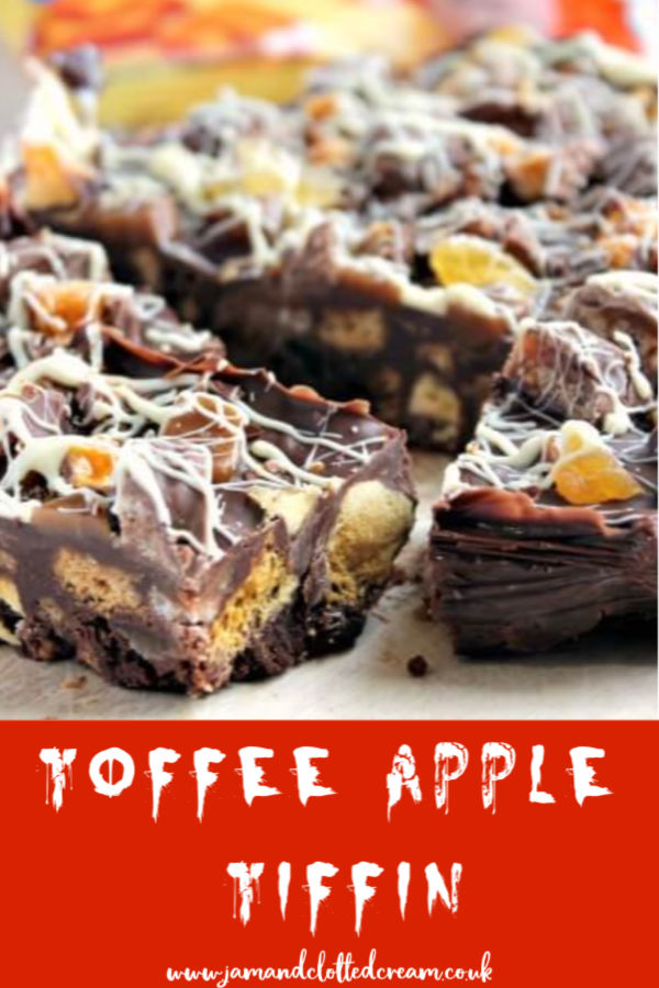 No Bake Toffee Apple and Chocolate Tiffin