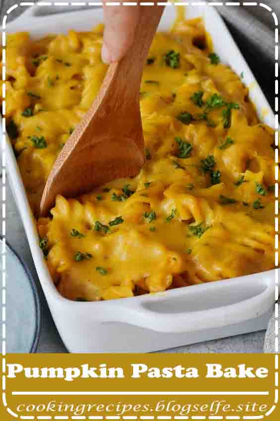 4.8 ★★★★★   Creamy Pumpkin Pasta Bake which is cheesy and delicious! This easy to make pasta casserole is a great vegan weeknight dinner with wholesome ingredients. The recipe is meat-free, vegetarian, dairy-free, plant-based, oil-free, and can be made gluten-free. #vegetarian #recipes #easy #dinner #pasta #noodles