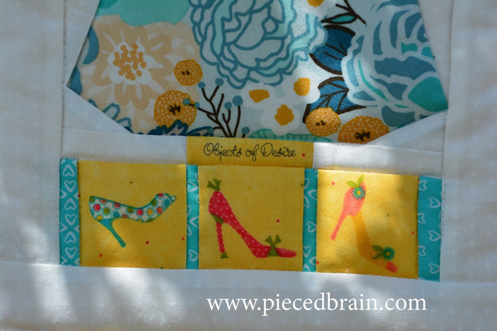 Pieced Brain: Quilted Wall Hanging