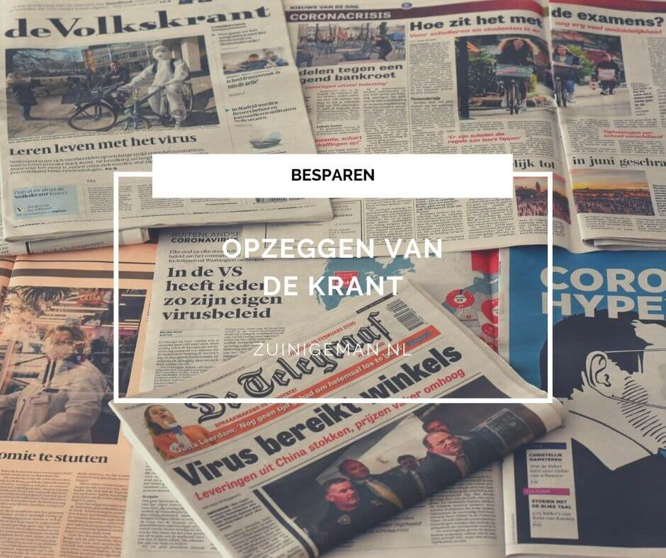 Opzeggen krantenabonnement