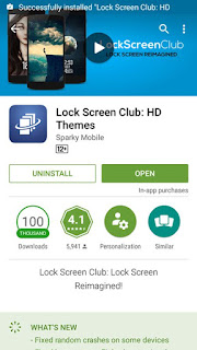 Lock Screen on android