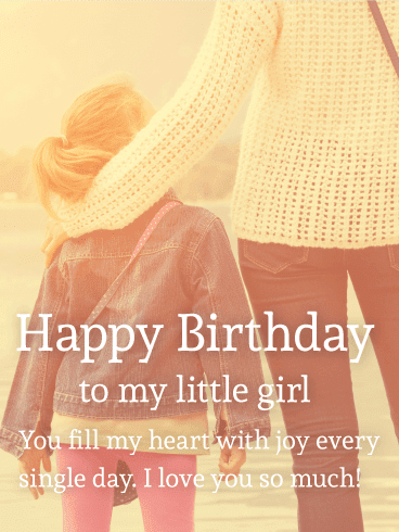 Birthday Wishes for My Little Girl