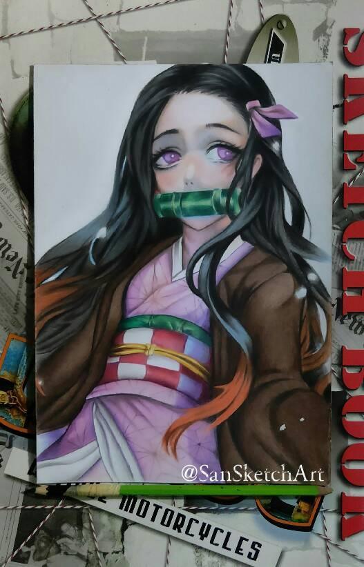 Nezuco chan Fan art  by Sandi Arianto