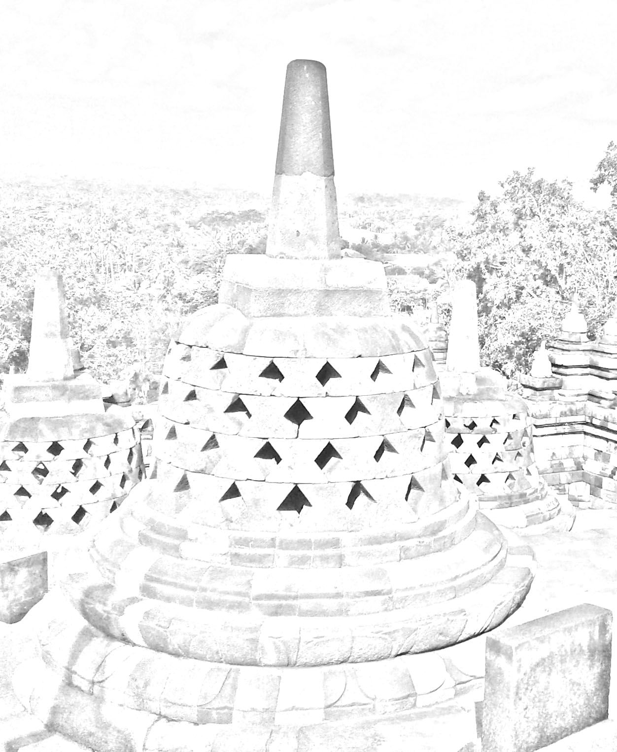 72+ Gambar Sketsa Pensil Candi Borobudur Terlihat Keren