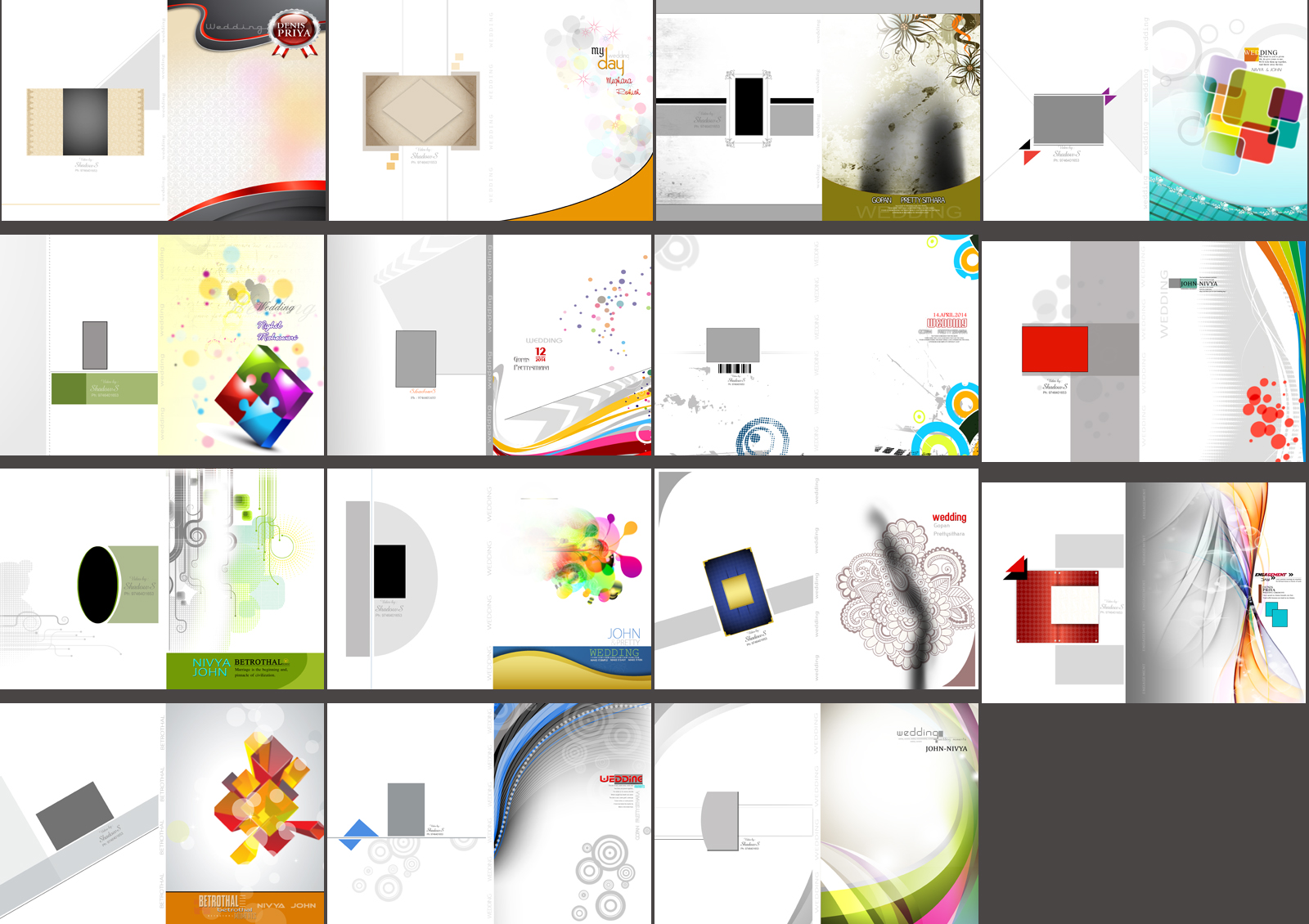 Wedding Album DVD Cover Design 12×18 PSD Templates