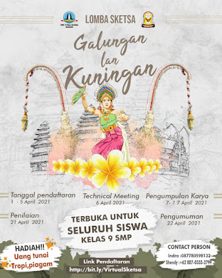 Lomba Sketsa Galungan dan Kuningan - OSIS SMK TI Bali Global Badung