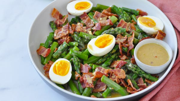 Here Are Five Health Benefits Of Asparagus Asparaguseggbaconsaladdd