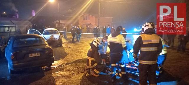 Osorno: Accidente vehicular deja 3 lesionados en Rahue Alto