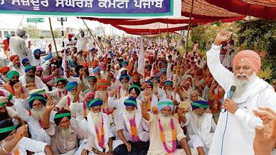 Farmer protest in Punjab