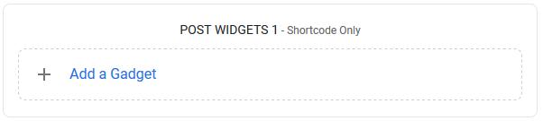 Post Widgets 1