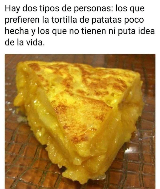 El eterno dilema de la tortilla de patatas