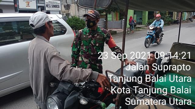 Jalin Silaturahmi Dengan Kepling Dan Masyarakat, Personel Jajaran Kodim 0208/Asahan Laksanakan Komsos