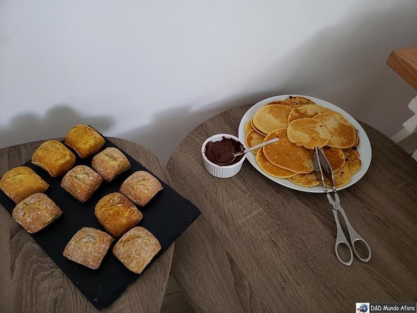 Detalhe do café da manhã no Hotel Infusion - onde ficar em Óbidos