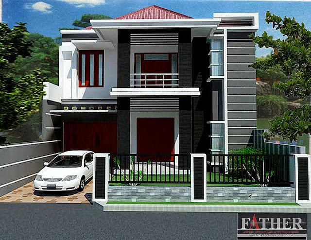 Contoh 2 gambar rumah minimalis modern dua lantai dalam gaya dan biaya murah